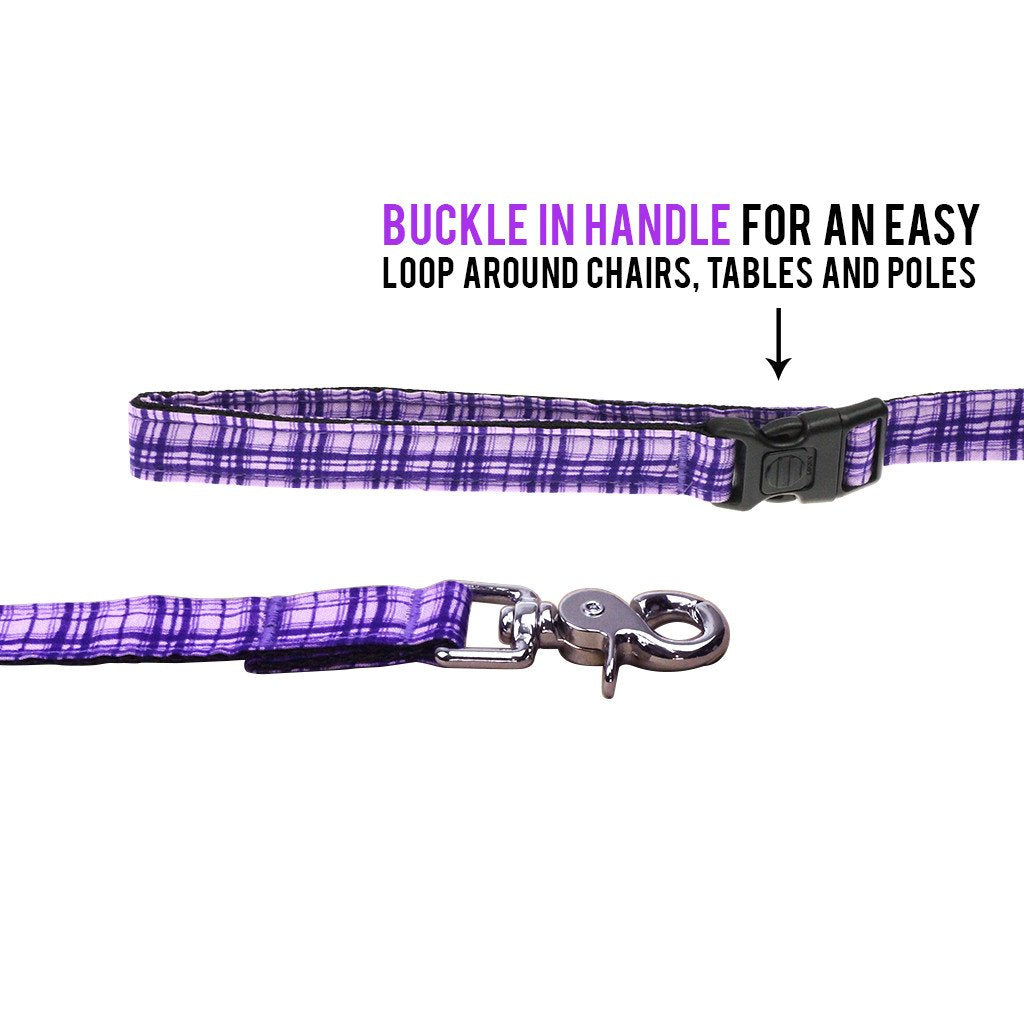Dog Bow-tie Harness & Leash : Purple Criss-Cross - Dharf - 5