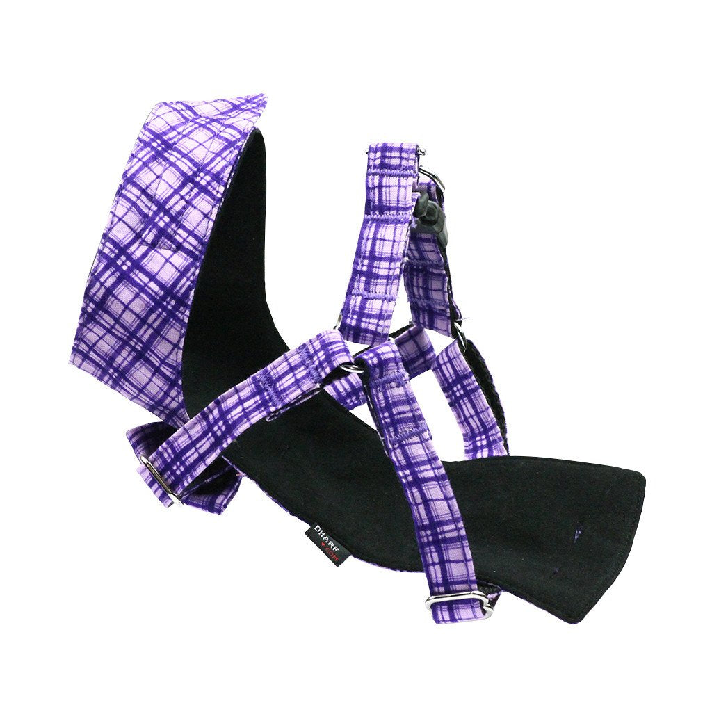 Dog Bow-tie Harness & Leash : Purple Criss-Cross - Dharf - 4