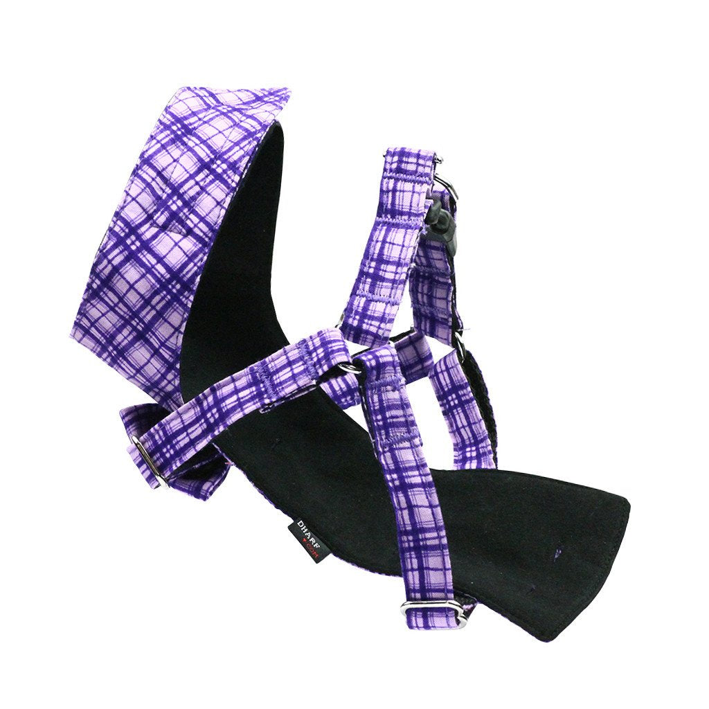 Cat Bow-tie Harness - Purple Criss-Cross - Dharf - 5