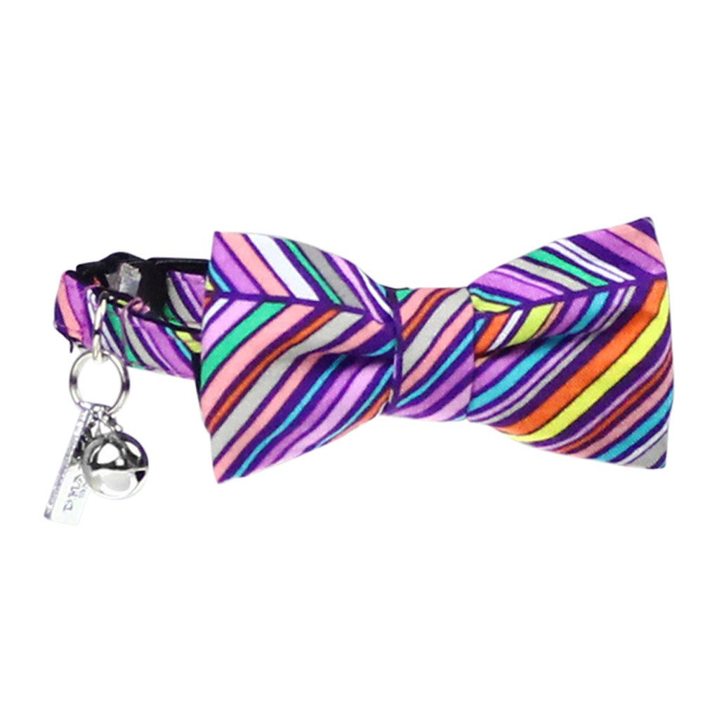 Cat Collar and Bow Tie : Purple Rainbow - Dharf - 1