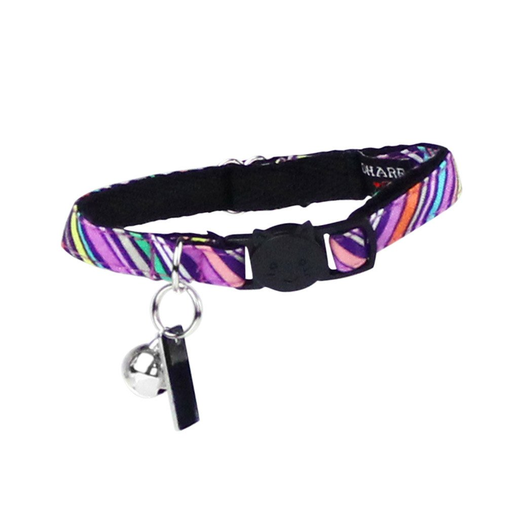 Cat Collar and Bow Tie : Purple Rainbow - Dharf - 3