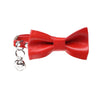 Leather Cat Bow Tie and Collar Set: Red - Dharf - 1