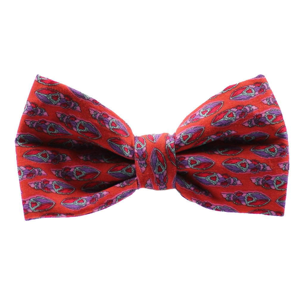 Dog Bow Tie : Feather Orange - Dharf