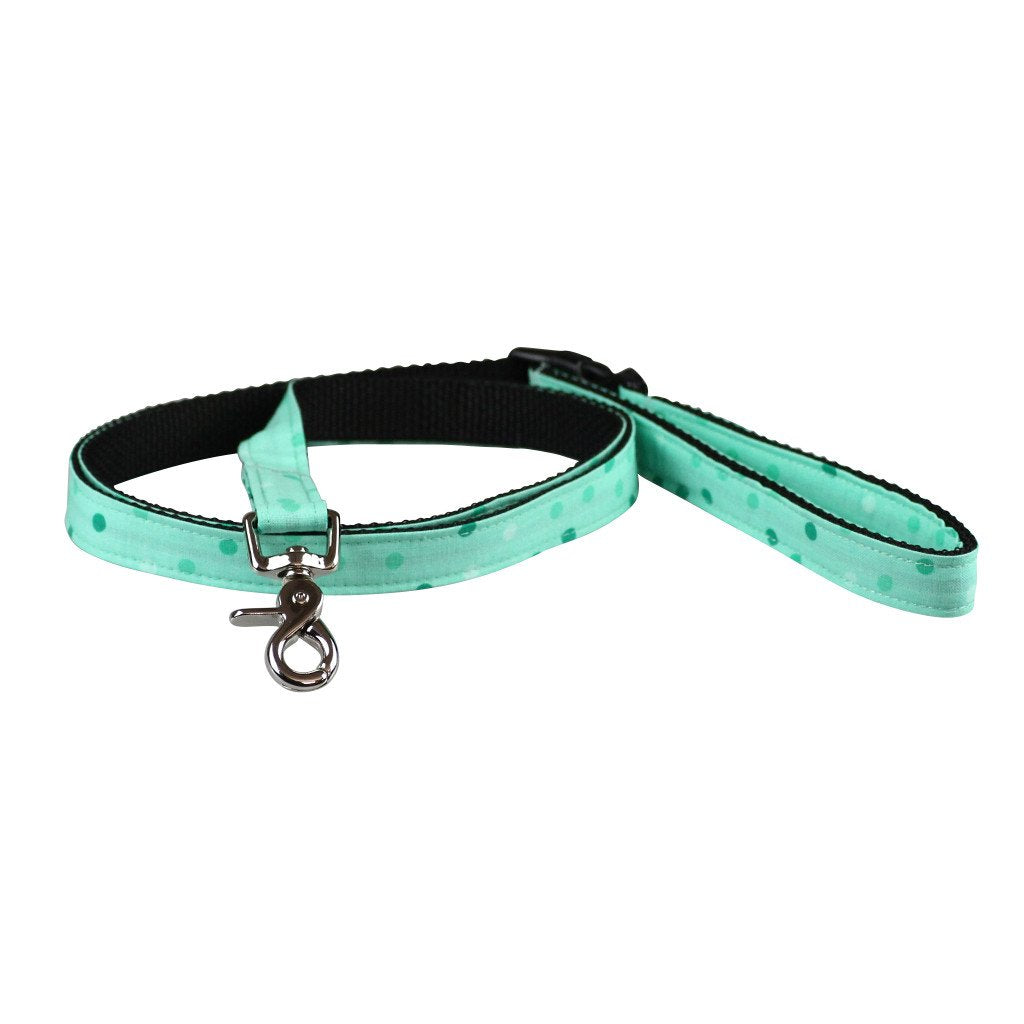 Dog Collar, Bow tie and Leash Set : Spotty Mint Green - Dharf - 6