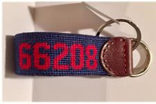 66208 NEEDLEPOINT KEY FOB