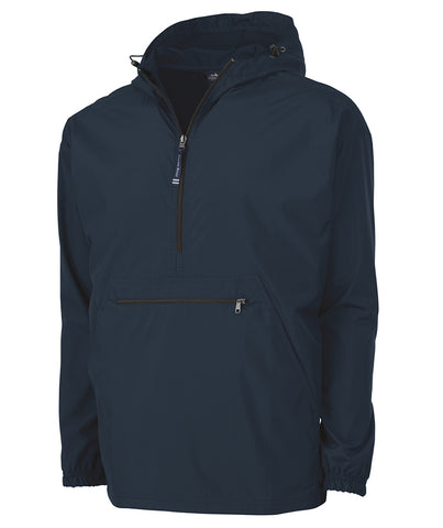 MONOGRAMMED 1/4 ZIP WIND BREAKER NAVY