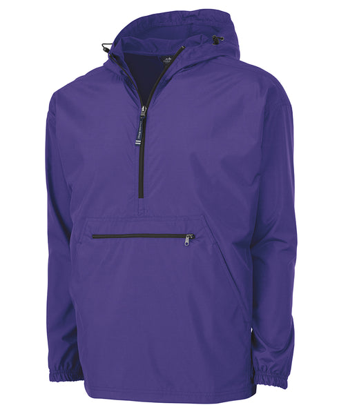 MONOGRAMMED 1/4 ZIP WIND BREAKER PURPLE