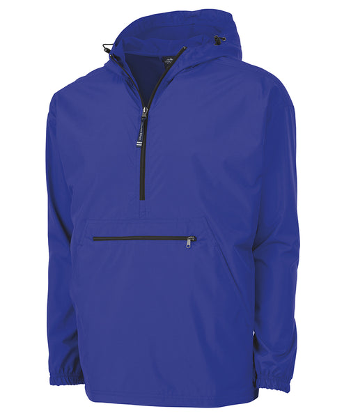 MONOGRAMMED 1/4 ZIP WIND BREAKER ROYAL