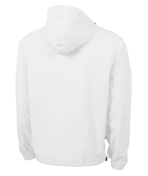 MONOGRAMMED 1/4 ZIP WIND BREAKER WHITE
