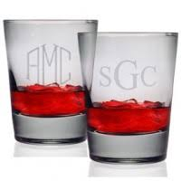 Double Old Fashioned Glasses-Personalized (Set of 4)