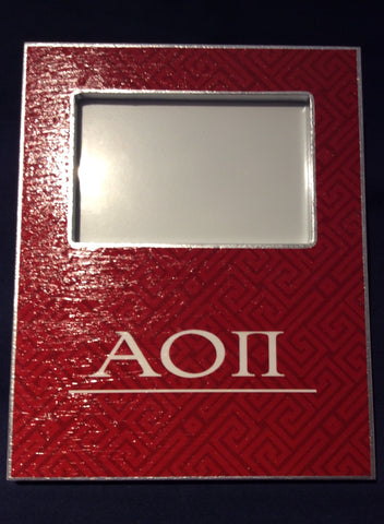 alpha omicron pi picture frame