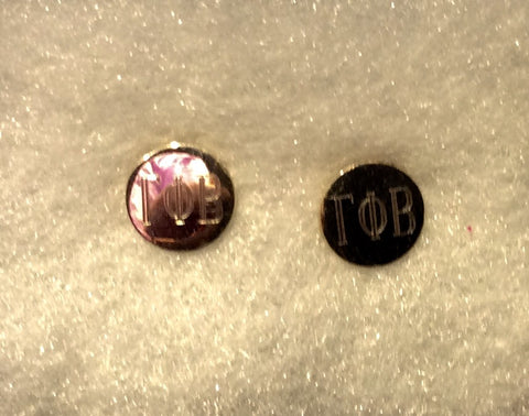 Gamma Phi Beta Silver Earrings