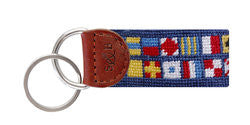 NAUTICAL ALPHABET NEEDLEPOINT KEY FOB