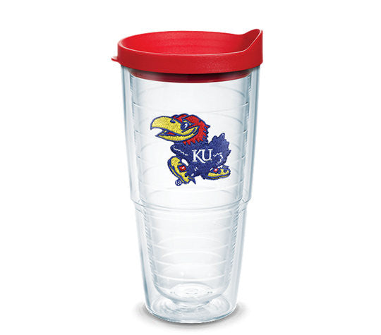 UNIVERSITY OF KANSAS 24 OUNCE INSULATED TUMBLER WITH LID