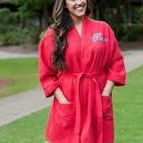 SPA ROBE RED