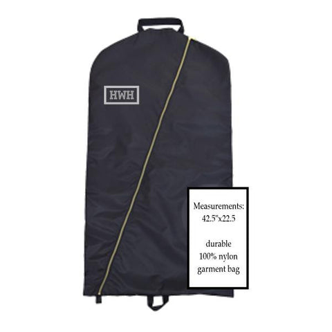 NYLON GARMENT BAG WITH BRASS ACCENTS