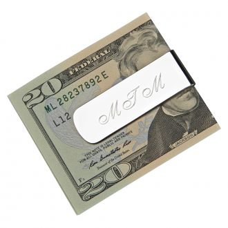 Personalized Elongated Money Clip