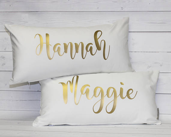 PERSONALIZED PILLOW COVER 12 x 18""