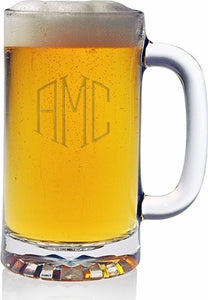 Pub Beer Mugs - Monogram (Set of 4)