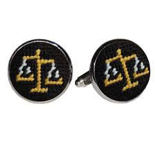 SMATHERS AND BRANSON SCALES OF JUSTICE CUFF LINKS