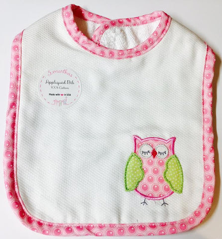 Feeding Bib - Owl Applique