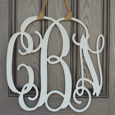 Wooden Hanging Monogram
