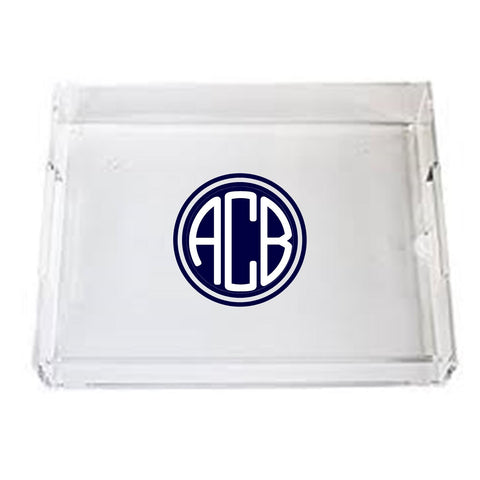 PERSONALIZED TRAY IN LUCITE