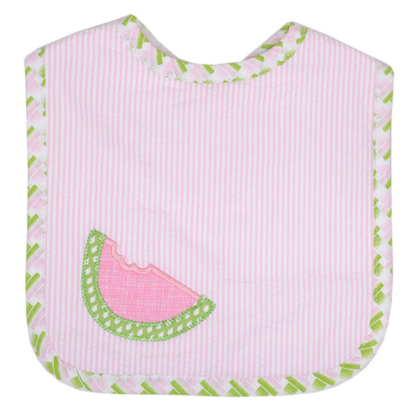 Feeding Bib-Watermelon Applique