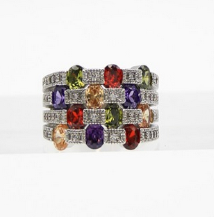 CZ Cocktail Stones Ring