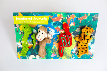 Rainforest Story Finger Puppet Set