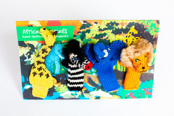 African Safari Finger Puppet Set