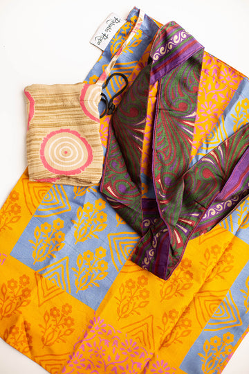 Assorted Silk  Sari Tote Bag