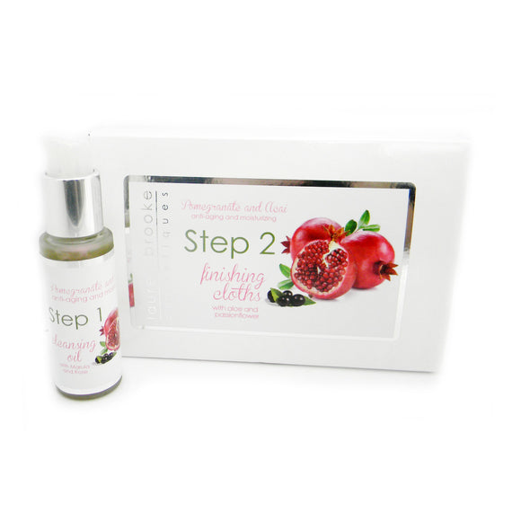Lauren Brooke Cosmetiques Two Step Cleansing System - Anti-Aging/Moisturizing - Cleansing System, Facial Serum, Finishing Cloths, Oil Cleanser, Organic Facial Serum, Organic Moisturizer