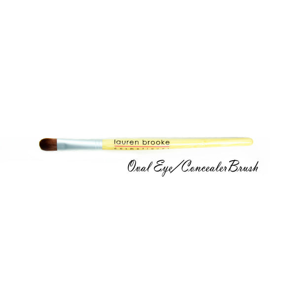 Lauren Brooke Cosmetiques Eco-friendly Oval Eye/Concealer Brush - Bamboo Brushes, Eco-friendly Brushes