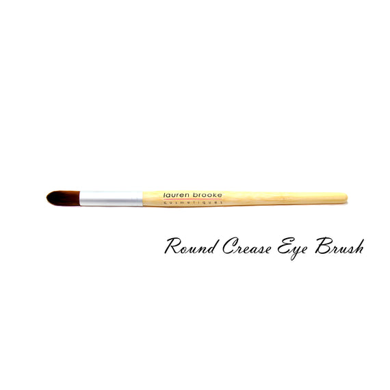 Lauren Brooke Cosmetiques Eco-friendly Round Crease Eye Brush - Bamboo Brushes, Eco-friendly Brushes
