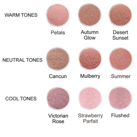 Powder Cheek Colour Samples