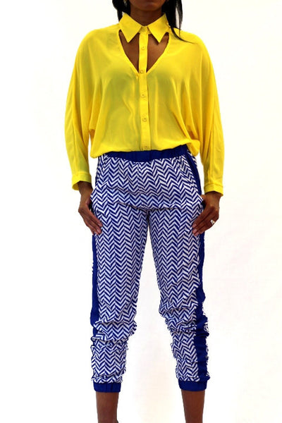 Chevron Print Trousers
