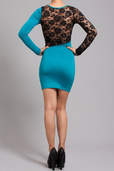 Dress with Lace Insert