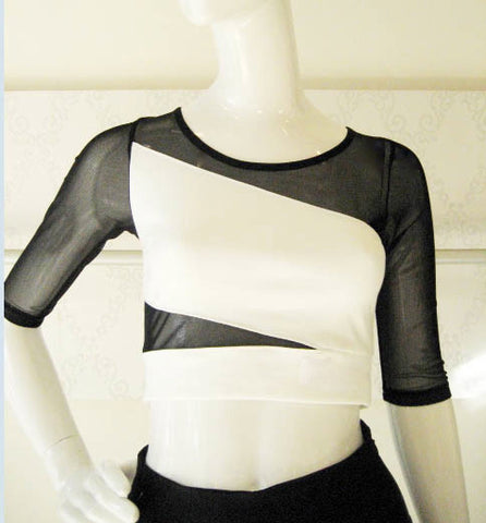 Mesh Insert Crop Top
