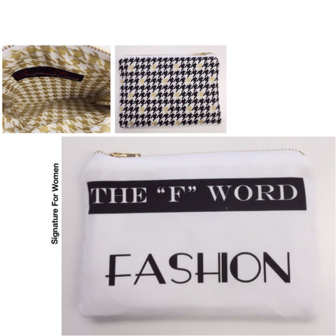 """F"" Word Fashion Pouch"