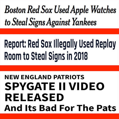 Boston Red Sox New England Patriots Cheaters