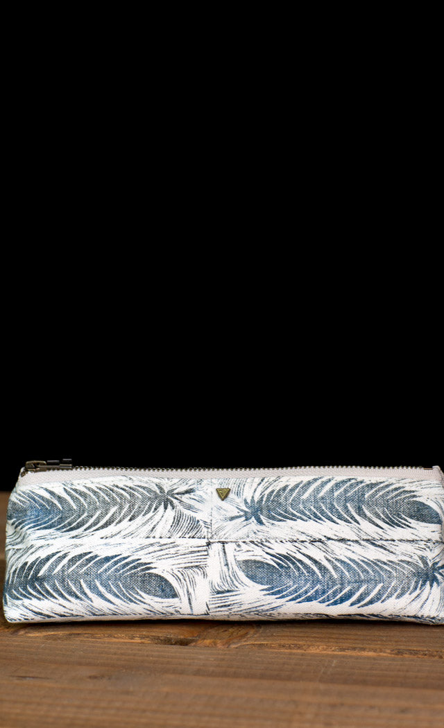 The Atelier Pouch Feather Block Print