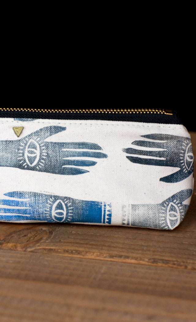 The Atelier Pouch Hamsa Hand Block Print