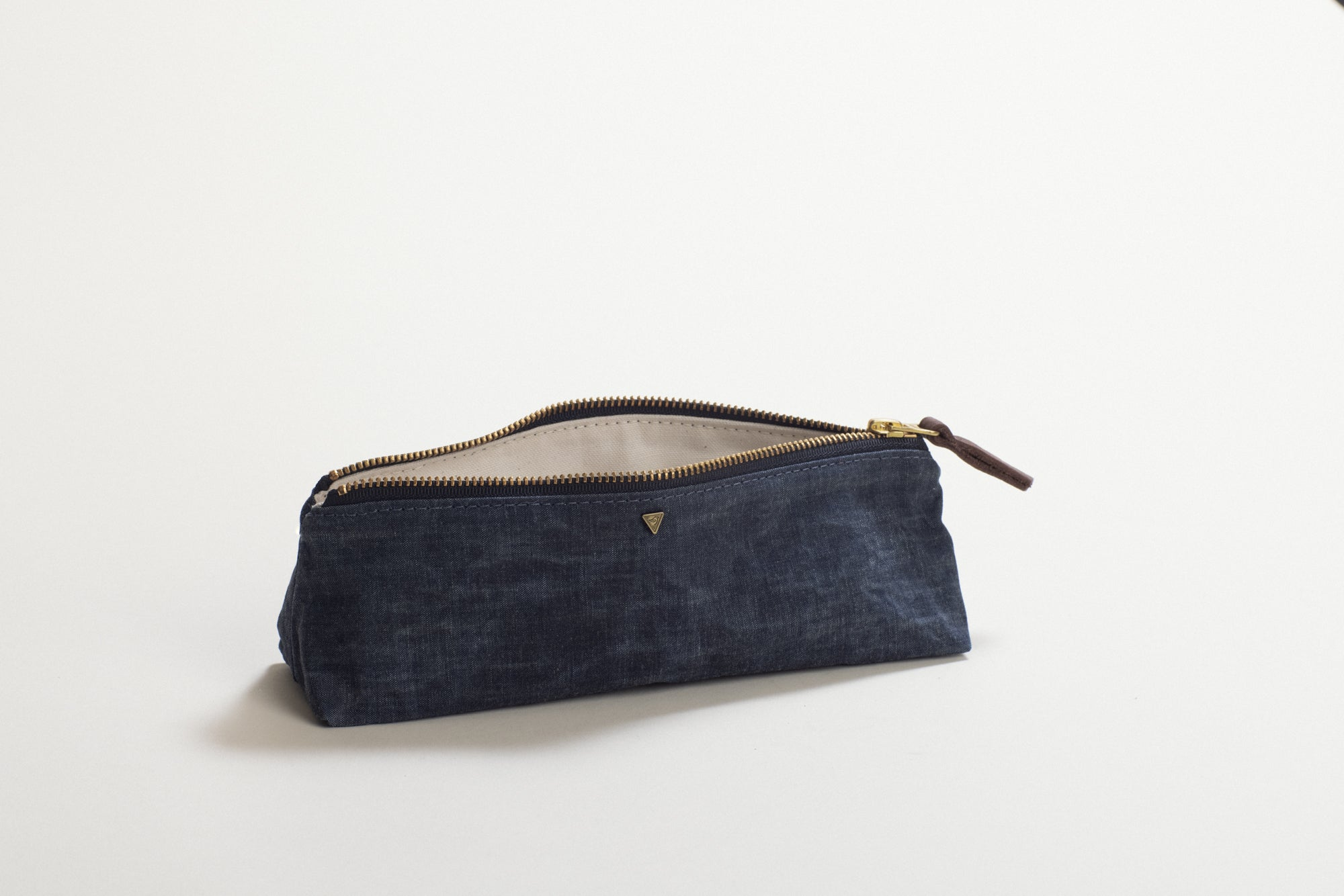 The Atelier Waxed Chambray in Denim