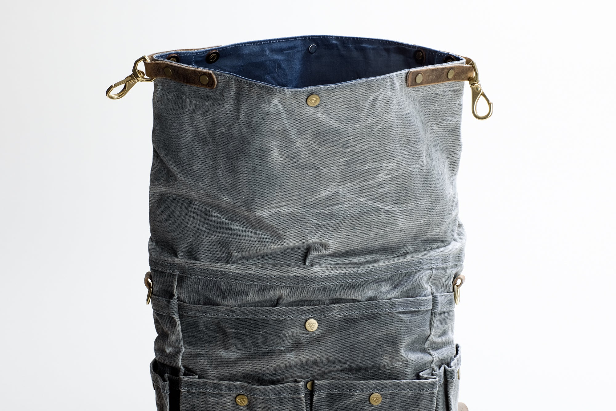The Bees Knees Backpack in Waxed Salt-n-Pepper Canvas