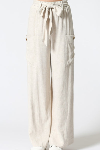 Woven Cargo Pocket Straight Leg Pants