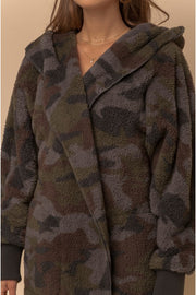 Sophie Cozy Hooded Jacket - Camo