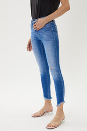 Kancan High Rise Frayed Ankle Skinny