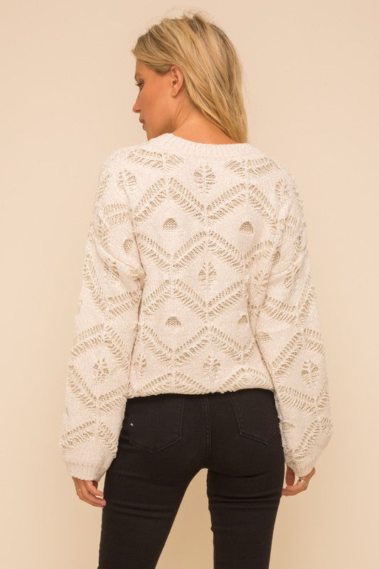 Paris Velour Jacquard Sweater