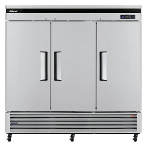 "Turbo Air TSR-72SD-N Super Deluxe 82"" Bottom Mounted Solid Door Reach-In Refrigerator with LED Lighting - JrcNYC"